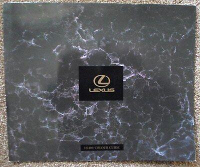 LEXUS LS400 orig 1990 UK Mkt Larger Format Colour Guide Brochure