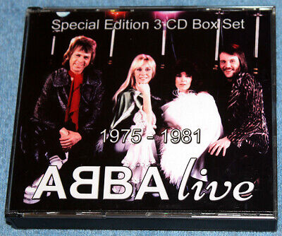 SALE! ABBA - ULTRA RARE 'ABBA live' Collector's 3CD Box Set - ONLY TWO AVAILABLE