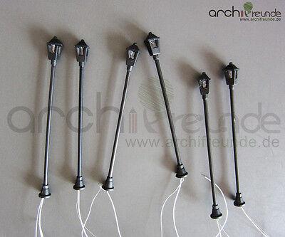 5 x schöne Modell Lampen Parklaternen 7,3cm für Modellbau und Modelleisenbahn H0