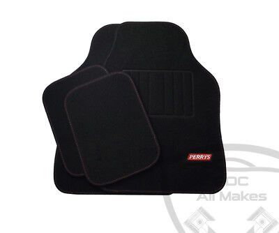 CITROEN UNIVERSAL NON TAILORED CARPET FLOOR MAT SET WITH PERRYS LOGO FITS ALL