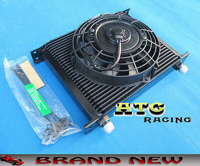 "Universal 30 Row 10 AN Transmission Oil Cooler & 7"" inch fan"