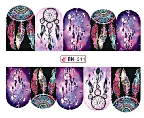 Nagelsticker Tattoo Dreamcatcher Traumfänger Nail Sticker Fingernagel Wraps
