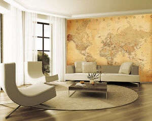 wallpaper mural old vintage map photo wall paper poster. Black Bedroom Furniture Sets. Home Design Ideas