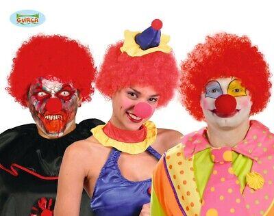 Rote Afro Locken Perücke zum Clown Kostüm Karneval Fasching Party