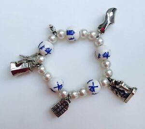 Delft Blue Dutch charm bracelet
