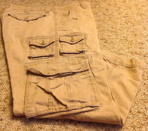 3 Men's Cargo Pants From Old Navy (size 36-30, 36-32(2).