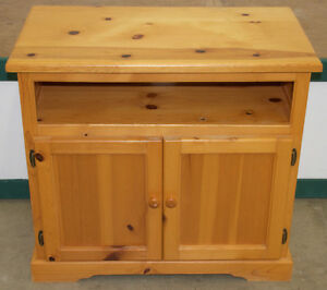 Solid Knotty Pine TV Cabinet & Stand