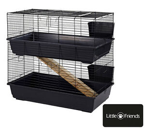Large indoor double decker rabbit guinea pig 100 cage for Buy guinea pig cage