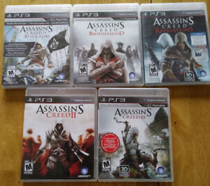 PS3 Games for sale (5) Assassin's Creed  $50.00