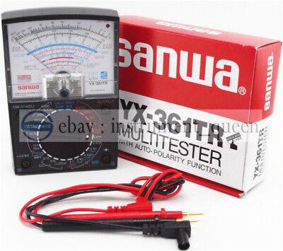 Analog Analogue Multitester Multimeter Wide Measurement Range Sanwa Yx-361tr