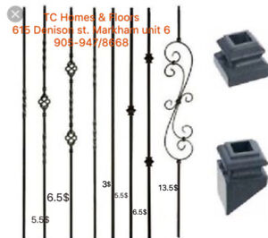 Iron spindles 20$ installed$20.00