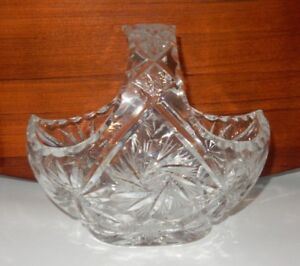 bohemian cut crystal wedding basket