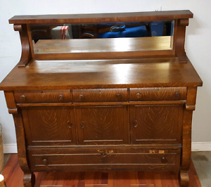 Oak Buffet with Mirror *Delivery Available*