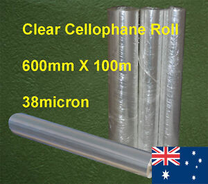 Clear Cellophane Roll 60cmX100m 1Roll/Pack 38micron