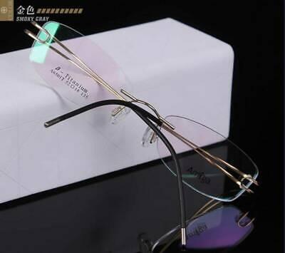 Damen Randlos Brillengestelle Titan Flexibel Optisch Rx-fähig Brille Leicht