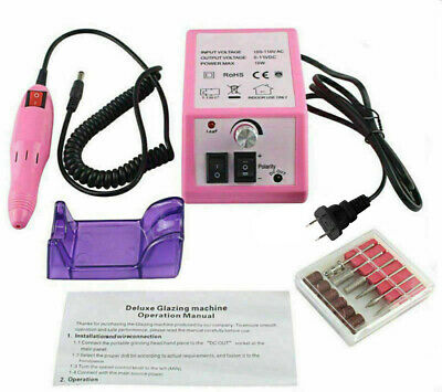 PINK ELECTRIC NAIL FILE Manicure Beauty Tool Pedicure Machine Set US