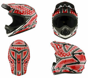 New T.H.E. Full Face Bike Helmet MSRP $200 - Red - Size Large