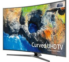 "New 50"" Samsung smart 4k curve tv £420 price is negotiable and guaranteed."