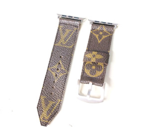 Louis Vuitton Handmade repurposed apple watch band size 38mm