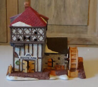 Rare Older Dickens Village House and Train Station