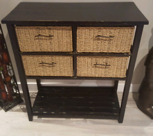 4 drawer side table