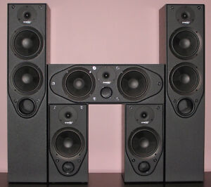 NEVER USED - Surround Sound/Home Theatre Speakers & 2 Subwoofers