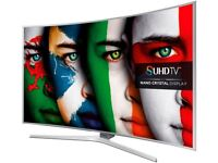 """55""""Samsung 4k curve smart tv £550,price is negotiable and guaranteed."""