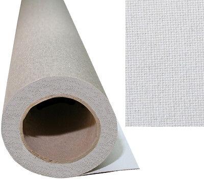 Weiss grundiertes Gewebe fein strukturiert (7,23€/m²)
