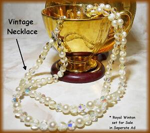 Vintage necklace -- Aurora Borealis