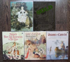 Golden Age Masters of Illustration Set of 4 Nielsen Dulac Goble