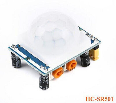 Hc-sr501 Ir Pyroelectric Infrared Pir Motion Sensor Detector Module Dc 5v-20v