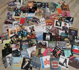 "Collection of 80 punk / New wave,indie, Britpop Alt Rock 7"" singles"
