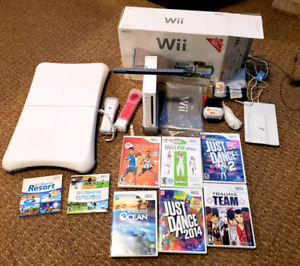 ♡ Wii system •active kit, balance board, games, remotes, camera