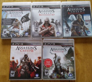 Assassin's Creed PS3 Games (5)Very little used $50