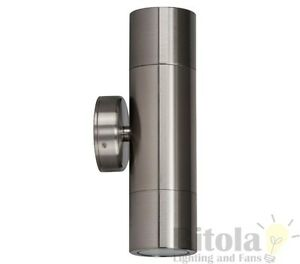 10W LED UP Down 316 Marine Grade Stainless Steel Wall Light Outdoor Warm IP65