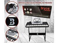 12 X BRYCE 61 KEY KEYBOARD JOB LOT HEADPHONES STAND