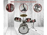 BRYCE JUNIOR CHILDRENS DRUM KIT CHRISTMAS PRESENT IDEA BAND 3-7 YEARS BAND INSTRUMENT CYMBAL PERFORM