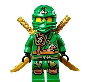 LEGO NINJAGO LLOYD ZUKIN minifigure GREEN NINJA With 2 GOLD SWORD 70749 New