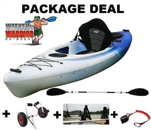 Sit in Kayak Canoe PACKAGE with Cradles, Trolley, Seat, Paddle + Erina Gosford Area Preview