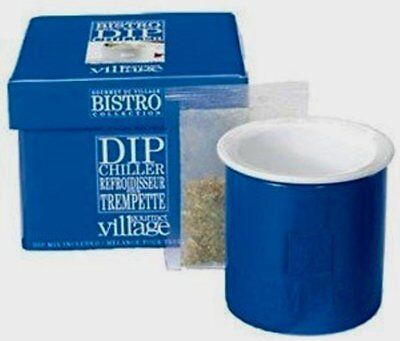 Gourmet Du Village Dip Chiller Bistro Collection with Roasted Garlic Dip Mix NEW