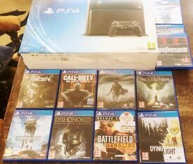 PS4 500GB - 1 Controller - 11 Games £280