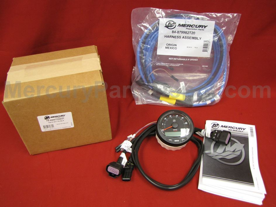 Mercury SmartCraft SC1000 Tachometer Black 79-8M0135641 & 879982T20 CAN  Harness