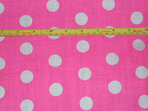 0.5M POLKA DOT SPOTTY Fabric Material POLY COTTON for Crafts Quilting Sewing