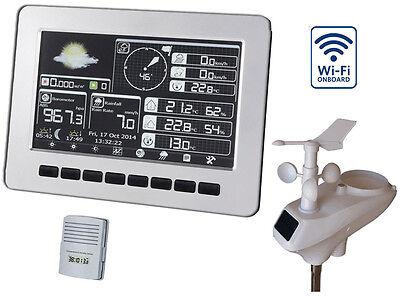 Profi Funk Wetterstation HP1000 Wifi Solar Farbdisplay Windmessung Regen UV