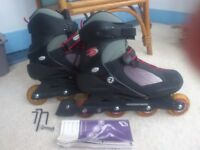 Inline skates/ rollerblades (K2 Exotech/ Rossignol, size 11) - as new, used twice