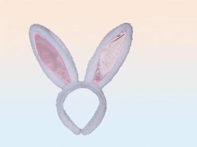groß Plüsch Osterhase Ohren auf Haarreif Kostüm Hase Kostüm Zubehör
