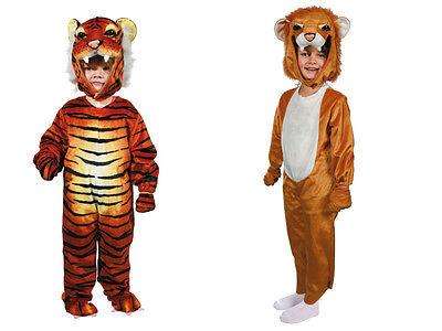 Hochwertiges Plüsch Kleinkinderkostüm Löwe Tiger Katze Kinderkostüm Kostüm - Hochwertige Kinder Kostüm