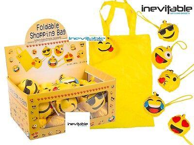 Emoji Bag Emoticon Folding Pocket Handbag Size Shopping Bag Keyring