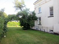 NO FEES - Large garden apartment, character Villa, nr Waitrose, St Lukes, Hospital, with parking