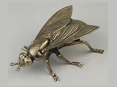 """Ascher """"Fliege"""" Metall goldfarben 17cm NEU/OVP"""